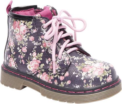 Cupcake Couture Zwarte boot bloemen print