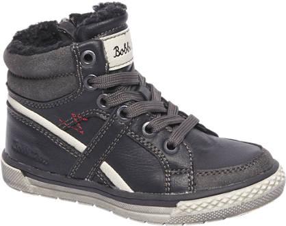 Bobbi-Shoes Zwarte veterboot gevoerd