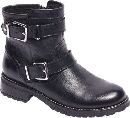 Graceland Leather Strap & Buckle Boot