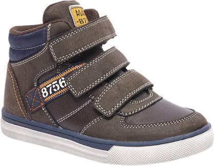 Agaxy Bruine sneaker klittenband