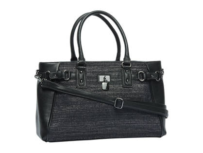 Graceland Zwarte/zilveren handtas