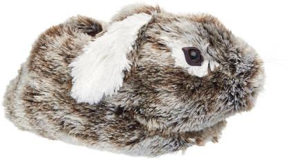 Casa mia Beige konijn pantoffel