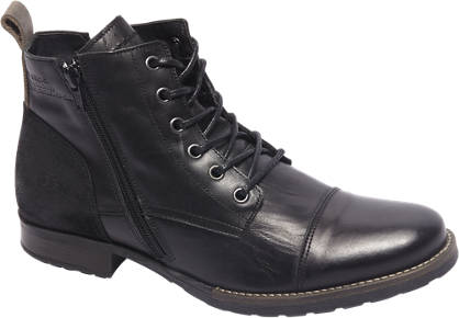 AM shoe Premium - Zwarte leren boot sierrits