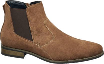 AM shoe Beige suède laars ritssluiting