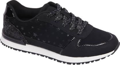 Graceland Zwarte sneaker pailletten