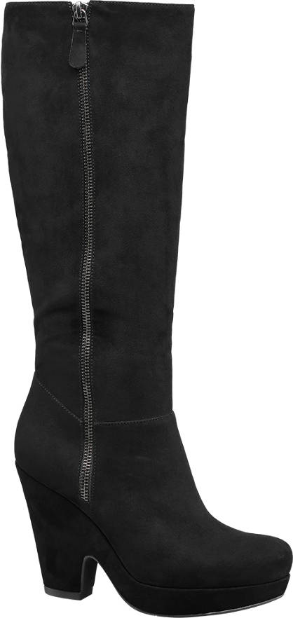 Graceland Scoop Wedge High Leg Boots