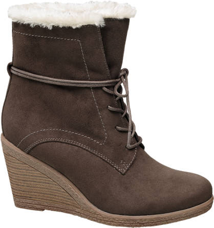 Graceland Lace-up Wedge Ankle Boots