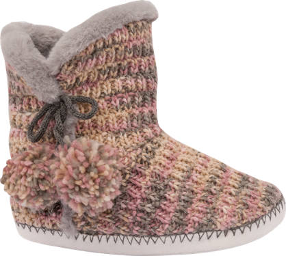Knit Boot Slipper