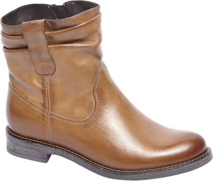 5th Avenue Bruine leren boot geplooide schacht