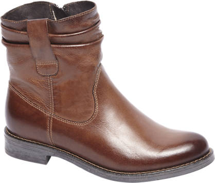 5th Avenue Cognac leren boot plooi schacht