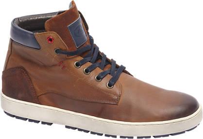 AM shoe Premium - Bruine halfhoge leren veterschoen
