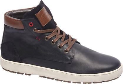 AM shoe Premium - Blauwe halfhoge leren veterschoen