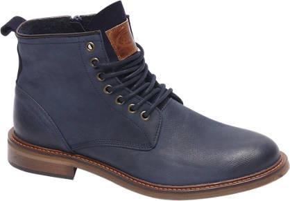 AM shoe Premium - Blauw leren veterboot