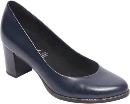 5th Avenue Blauwe leren pump