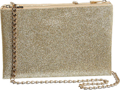Graceland Ladies Glitter Clutch Bag