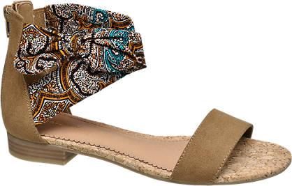 Graceland Bruine sandaal strik