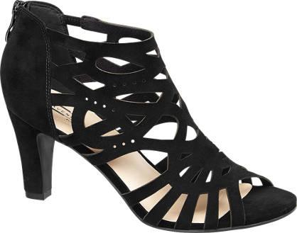 5th Avenue Zwarte suéde sandalette ritssluiting