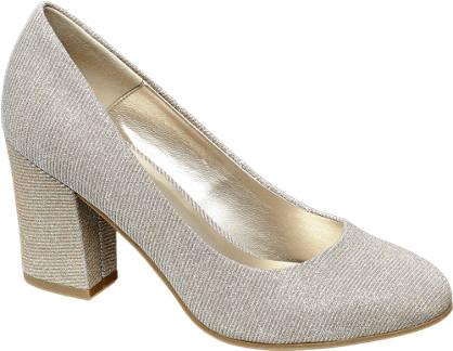 Catwalk Block Heel Court Shoes