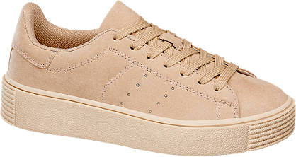 Graceland Beige sneaker plateauzool