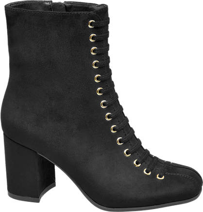 Star Collection Lace Up Heeled Boot