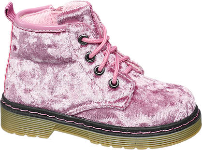 Cupcake Couture Toddler Girl Velvet Lace-up Ankle Boots