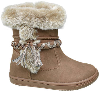 Cupcake Couture Toddler Girl Faux Fur Trim Boots