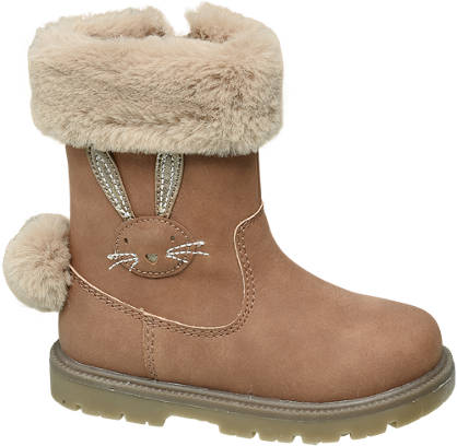 Cupcake Couture Toddler Girl Bunny Tail Boots