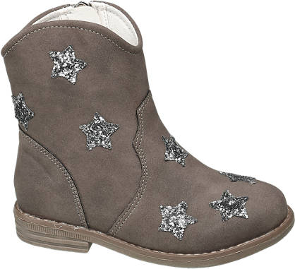 Cupcake Couture Toddler Girl Glitter Star Western Ankle Boots