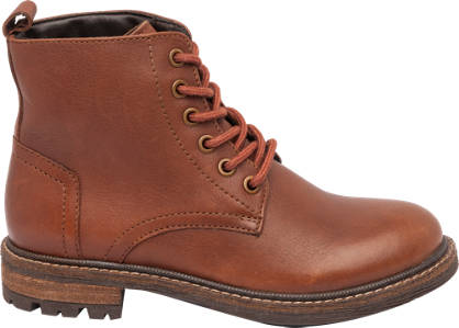 Memphis One Junior Boy Leather Lace-up Ankle Boots