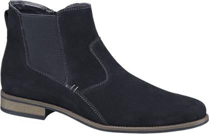 AM shoe Blauwe suède laars ritssluiting