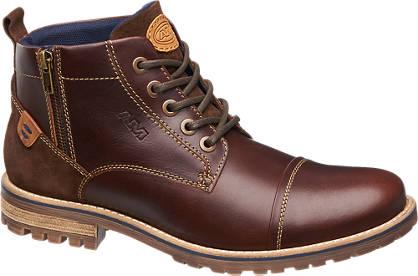 AM shoe Bruine leren boot sierrits
