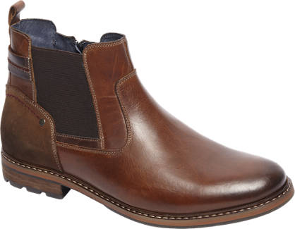 AM shoe Bruine leren instapper