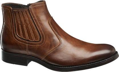 AM shoe Bruine leren laars ritssluiting