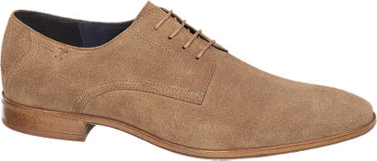 AM shoe Bruine suède veterschoen