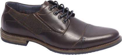 AM shoe Premium - Bruine leren geklede veterschoen