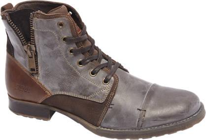 AM shoe Premium - Bruine leren veterboot sierrits