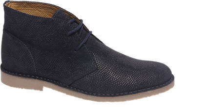 AM shoe Premium - Donkerblauwe leren desert boot