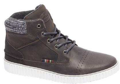 AM shoe Premium - Grijze leren veterschoen perforatie
