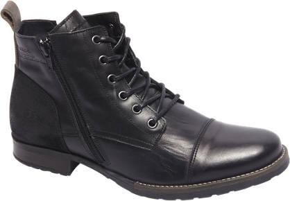 AM shoe Premium - Zwarte leren veterboot sierrits