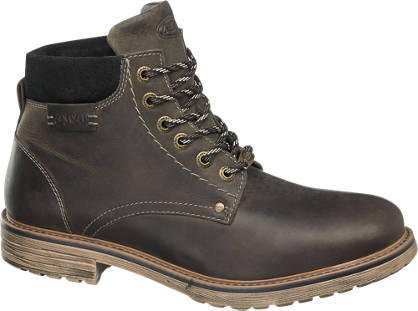 AM shoe Zwarte leren veterboot