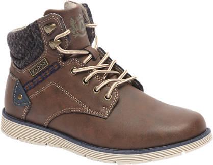 Agaxy Bruine boot ritssluiting