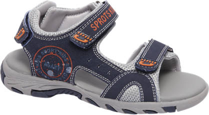 Agaxy witte sandaal klittenband