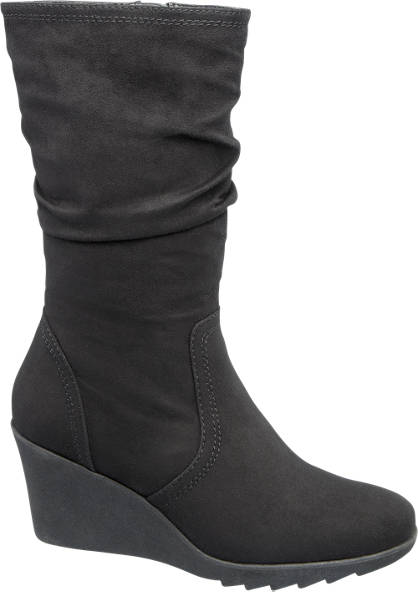 Ariane Zwarte laars sleehak
