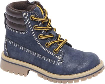 Bobbi-Shoes Blauwe veterboot gevoerd