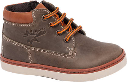 Bobbi-Shoes Leather Contrast Lace Up Boot