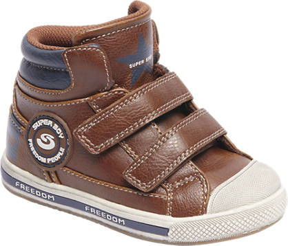 Bobbi-Shoes Bruine boot klittenband