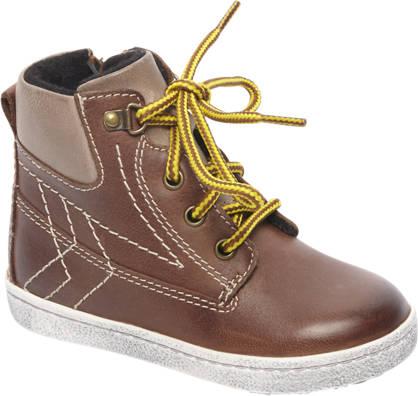 Bobbi-Shoes Bruine leren boot gevoerd