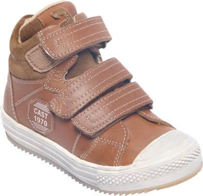 Bobbi-Shoes Bruine leren boot klittenband