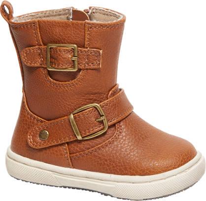 Bobbi-Shoes Cognac laars siergespen