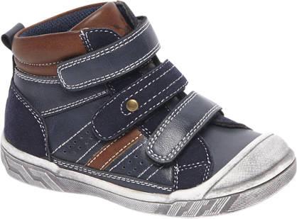 Bobbi-Shoes Donkerblauwe boot klittenband